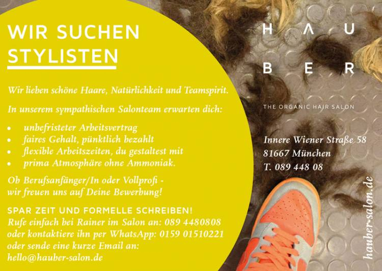 Jobangebot Friseur Bei Tobs The Organic Beauty Store In München
